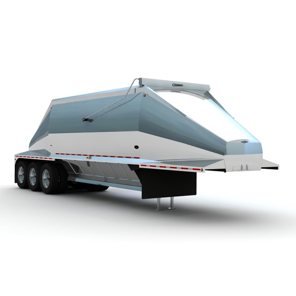 trailer beall 3 axle 3d lwo - Beall 3 axle belly dump... by bansheewoj
